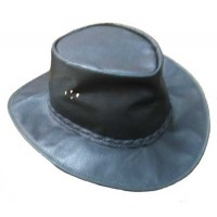 packable leather hat
